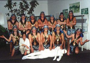 Die Feiergirls als Ägypter im Jahr 2000